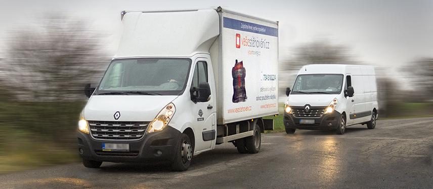 stěhovací vozy renault dodávka a nákladní auto pro stěhování a vyklízení praha kralupy nad vltavou